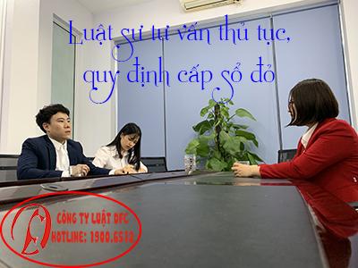 Luật sư tư vấn điều kiện cấp sổ đỏ 19006512