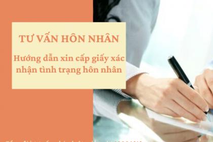 Xin xác nhận tình trạng hôn nhân